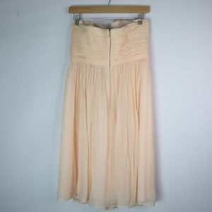 J. Crew Dresses - J. Crew Nadia Champagne Dress Silk Chiffon 6